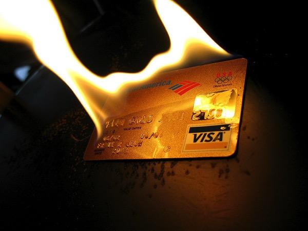 ゴールドカードを燃やす