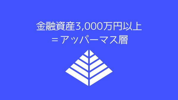 金融資産3,000万円以上がアッパーマス層
