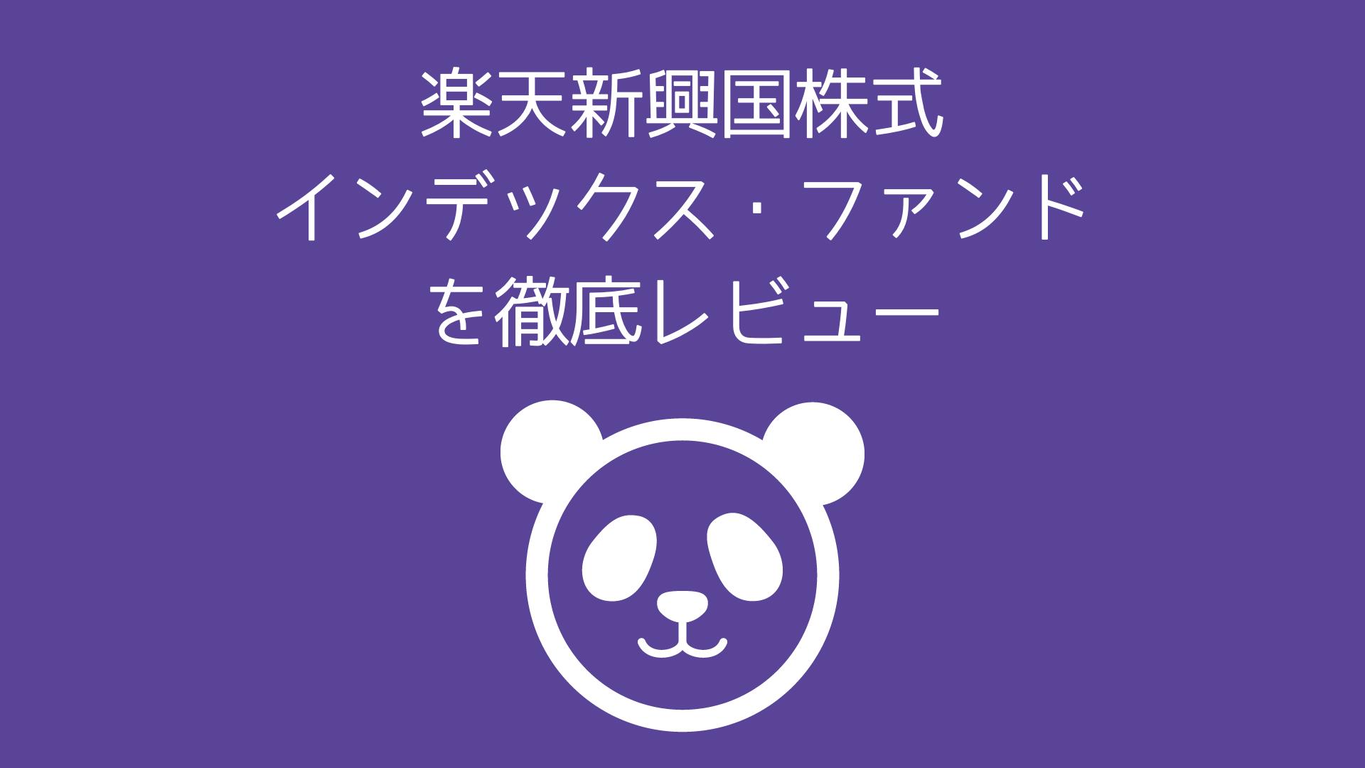 楽天新興国株式インデックス・ファンドを徹底レビュー