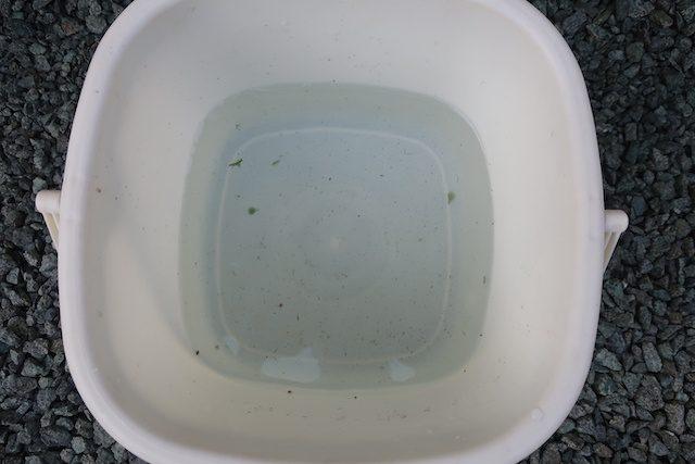 水の入ったバケツ