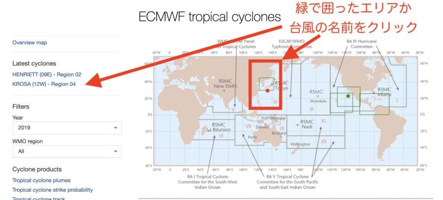 ヨーロッパ中期予報センター台風選択